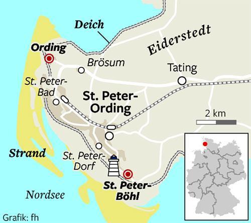 Sankt Peter Ording Karte.In St Peter Ording Mit Dem Strandsegler Hart Am Wind Region