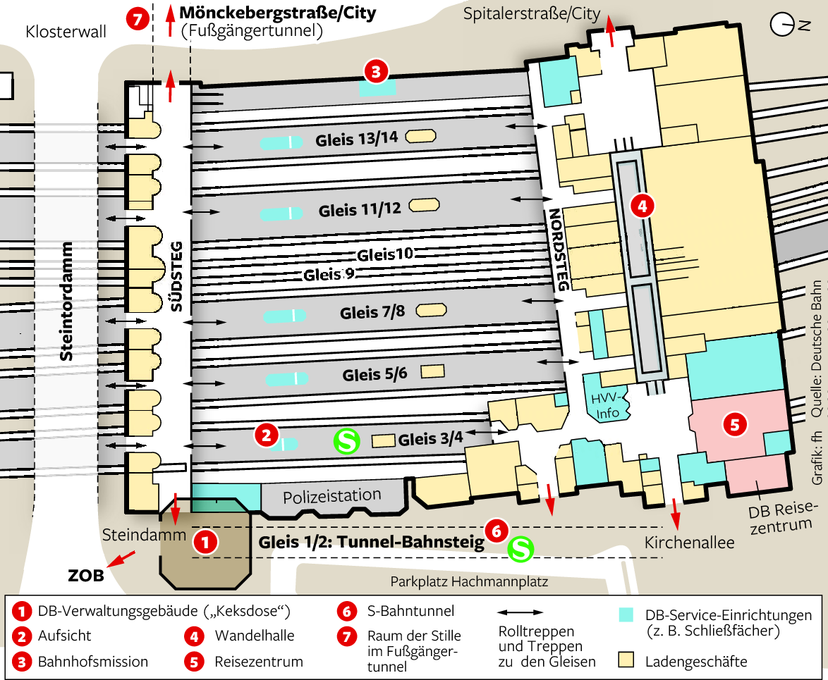 hamburg hauptbahnhof karte Der Hauptbahnhof – Hamburgs ungewöhnlichster Milliardär   Hamburg  hamburg hauptbahnhof karte