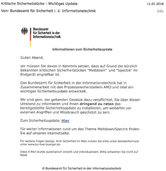 Achtung Lka Niedersachsen Warnt Vor Neuer Phishing Mail