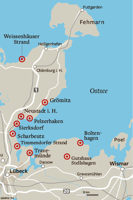 Was ist näher an hamburg ostsee oder nordsee