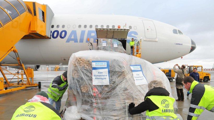 Erdbebengebiet airbus bringt hilfe aus hamburg nach nepal hamburg